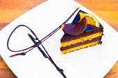 Chocholate orange cake.