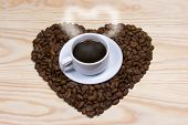 Coffee,heart,coffee Beans