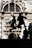 Jumping Tourists In Venice poster