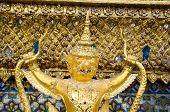 Golden Staute Of Garuda Close Up