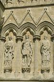 Salisbury cathedral exterior, Wiltshire, England