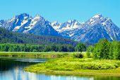 picture of bend over  - View of Grand Teton National Park over the Snake River in Wyoming - JPG