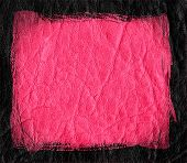 pink leather textured black border