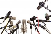 Conference Meeting Microphones Prepared For Talker