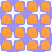 Embossed Linear Leaves Purple And Orange Seamless