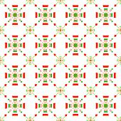 Red And Green Rectangle Gropes Flat Seamless