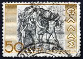 Postage Stamp Greece 1937 Diagoras Of Rhodes