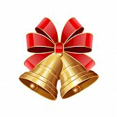 Christmas Bells With Red Bow