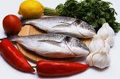 Cooked fish sea bream fish