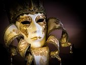 VENICE,ITALY- JULY 9:Traditional mask in shop in a small street. The Carnival of Venice is held annu