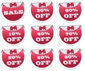 Sale, discount labels, badges, stickers