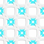 White Pointy Squares With Blue Inner Part Seamless