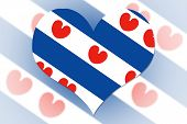Frisian (friesland) Flag Heart