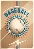Baseball poster design. Vector illustration.