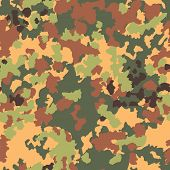 Camouflage seamless pattern. Woodland style