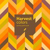 Autumn abstract geometric seamless pattern background