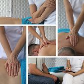 Постер, плакат: Body Massage Collage
