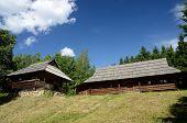Old Wooden Houses From Carpathian Mountains (western Ukraine),pirogovo Park, Kiev,europe