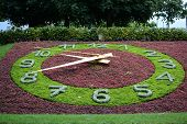 LAUSANNE-OUCHY, SWITZERLAND - JULY 9, 2014: The Floral Clock in Ouchy a district of Lausanne. The fl