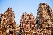 Face of bodhisattva Avalokitesvara in ancient temple Bayon, Siem Reap, Cambodia