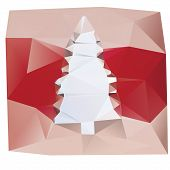 Christmas tree lowpoly illustration