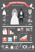 Постер, плакат: Wedding Infographics Set Retro Wedding Clothing
