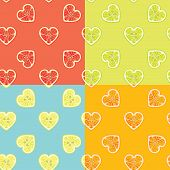 Fruit Background.set Of Citrus Seamless Pattern