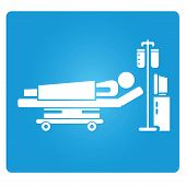 stock photo of icu  - patient symbol - JPG