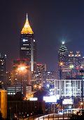 Atlanta downtown at dusk