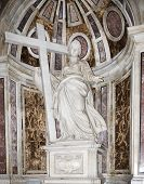 Statue Of St. Helena In St. Peter's Basilica