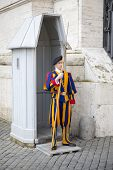 Swiss Guard At The Post