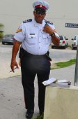Senior constable from Royal Cayman Islands Police Service in George Town