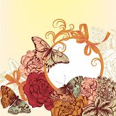Fashion  Background Pattern With Flowers In Vintage Style