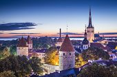 Tallinn, Estonia at dawn.