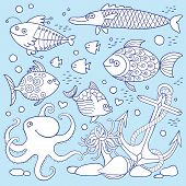 Illustration of underwater life.