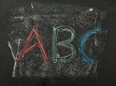 Abc Chalk Writing