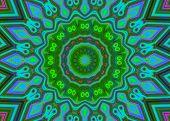 Creative Background. Kaleidoscope.  A Wonderful Harmony Of Colors. A-0075.