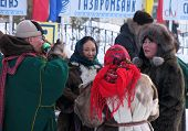 Nadym, Russia -  March 17, 2006: The National Holiday, The Day Of The Reindeer Herder.
