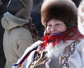 Nadym, Russia - March 15, 2008: The National Holiday, The Day Of The Reindeer Herder.