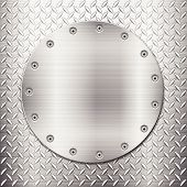 diamond metal background and circle plate