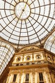 MILAN, ITALY - June 8: Vittorio Emanuele II shopping gallery on June 8, 2014.  Built in 1875, this s