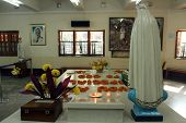 KOLKATA, INDIA - NOV 26, 2012: Tomb of Blessed Teresa of Calcutta, commonly known as Mother Teresa (