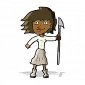 cartoon woman with spear