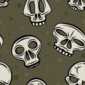Halloween Skulls Background