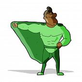 funny cartoon superhero