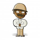 picture of safari hat  - cartoon man in safari hat - JPG