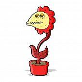 cartoon monster flower
