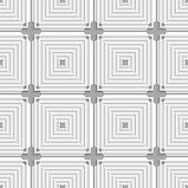 White Squares With Gray Layering Tile Ornament