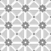 White Triangles With Lines And Gray Tile Ornament