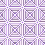 White Triangles With Lines And Violet Tile Ornament